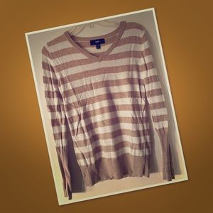 Stripe vneck sweater